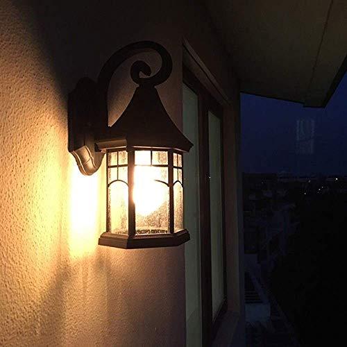 Beautiful home lighting / zwart buitenterras / veranda wandmontage buitenverlichting lantaarn bevestigingen met helder glas outdoor wandlantaarn, buitenverlichting, geschikt voor binnenplaatsen, familiehuizen, P