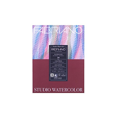 Fabriano Studio Watercolor Pad 9X12 CP 200G