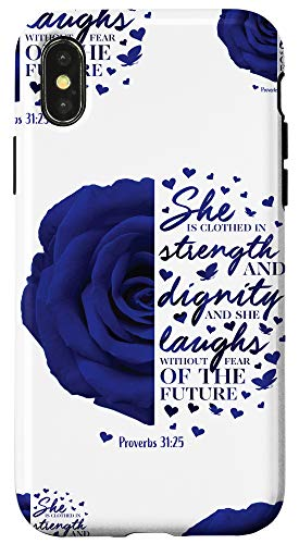 iPhone X/XS Proverbs 31 Christian Bible Verse Gifts Women Mom Daughter Case