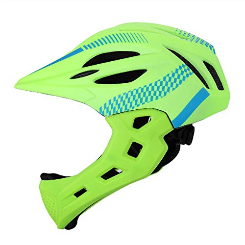 KYLong Casco de Bicicleta para ni/ños Casco Desmontable de Cara Completa para ni/ños de 2 a 8 a/ños Casco de Bicicleta de monta/ña Seguridad Deportiva