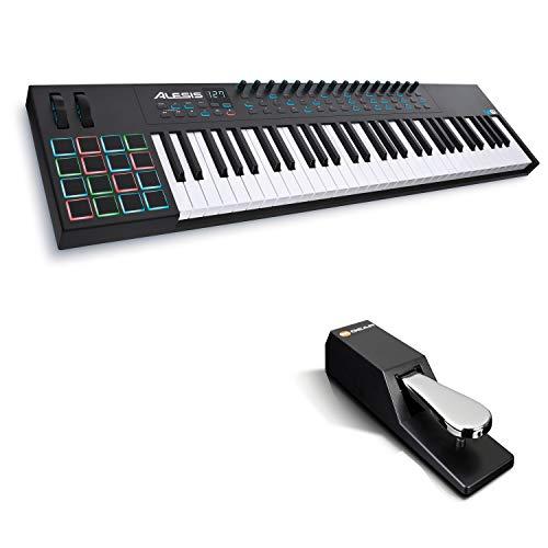 Alesis VI61 + M-Audio SP-2 - Teclado Controlador MIDI USB de 61...