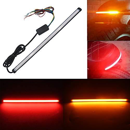 1 Unidad Secuencial 12 V Amarillo Rojo de Doble Color 3014 106SMD tira LED Impermeable para luz de Freno Bombilla de Señal de Giro de SUV Camión Motocicleta