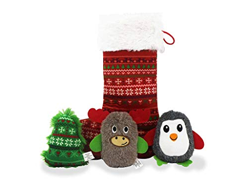 Bow Wow Pet Xmas Santa's Workshop Stocking Dog Toy Set Now $3.60