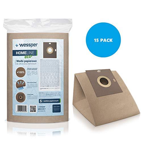 Wessper 15x Bolsas para aspiradora Samsung Veloce-Eco 1300 (Papel)