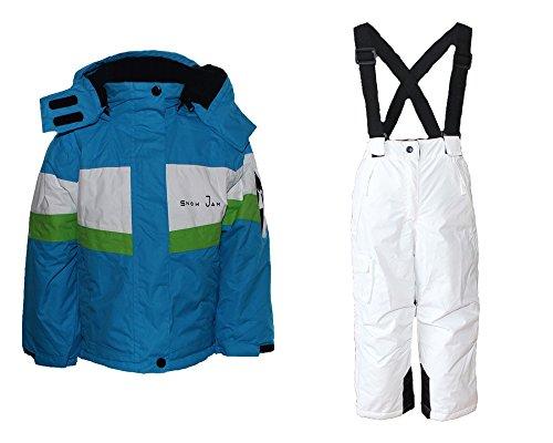 Alive Mädchen Skianzug Skihose Skijacke Snowboardhose Snowboardjackre Schneehose Türkis/Weiß 98/104