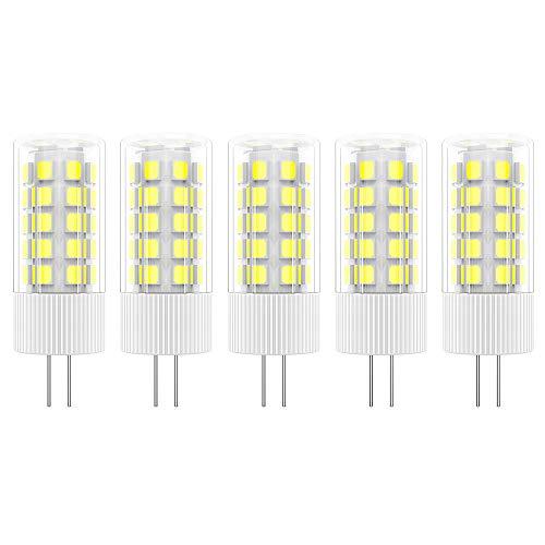 5X G4 Bombilla LED 5W Lámpara LED 36 SMD 2835LEDs Blanco Frío 6000K Bombillas Iluminación 500LM Equivalente a Halógenas 50W AC/DC12V
