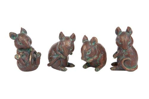London Ornaments LO7512076 Mice (Set of 4)