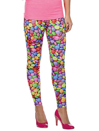 Rubies 13301-36 Leggings Candy Chocolate Talla 36, Multicolor