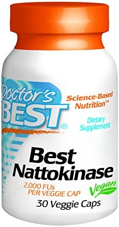 Doctor's Best Nattokinase - 2, 000 FU of Enzyme, Supports Heart Health & Circulatory & Normal Blood Flow, Non-GMO, Gluten Free, Vegan, 90 VC (DRB-00125)