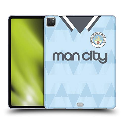 Head Case Designs Officially Licensed Manchester City Man City FC 1989 Home Retro Kits Soft Gel Case Compatible with Apple iPad Pro 12.9 (2020)