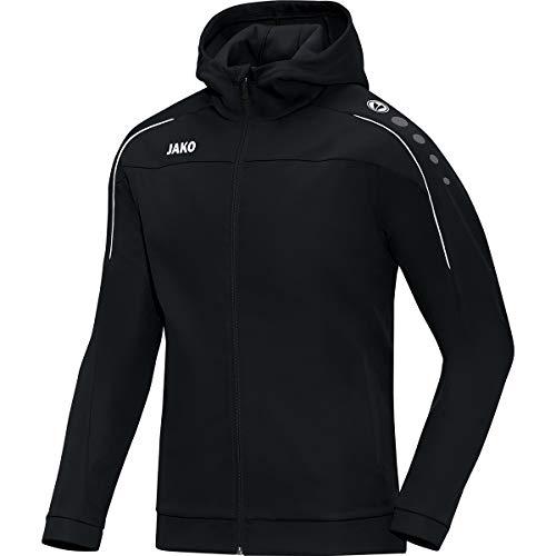JAKO Herren Classico Basic-Kapuzen-Jacke, schwarz, XL