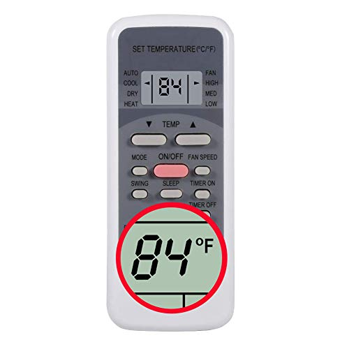 Replacement for Uberhaus Arctic King Air Conditioner Remote Control RG51B30/CE Works for 87795021 MPS1-08CRN1-BH9 87795040 MPS2-10CRN1-BH9 87795020 87795021 87795000 87795002