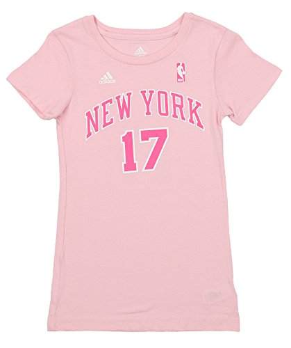 Outerstuff NBA Youth Girls New York Knicks Jeremy Lin #17 Player's Tee, Pink Medium (10-12)