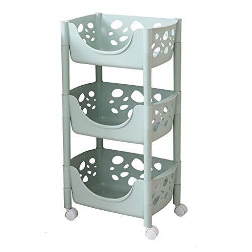 LIQIN Regal Küchen-Fertiggestell, Nähwagen, bewegliche Regale, Platzierung an der Wand, Lagerung im Wohnzimmer, Landung (Color : Green)
