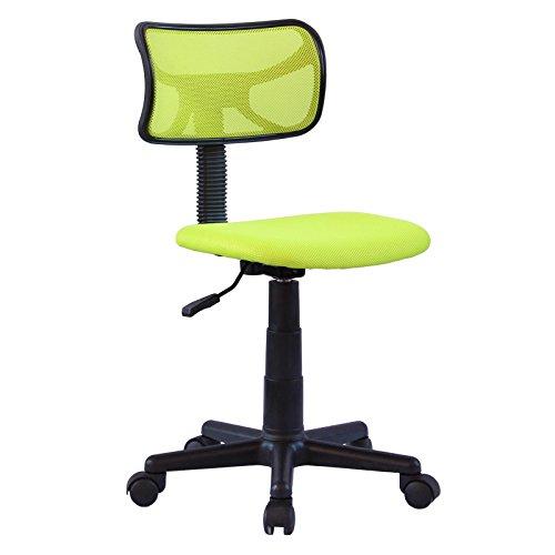 IDIMEX Chaise de Bureau pour Enfant Milan Fauteuil pivotant et Ergonomique sans accoudoirs, siège à roulettes avec Hauteur réglable, revêtement Mesh Vert