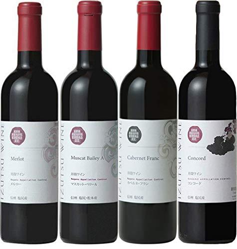 【長野県の風土を味わう】長野県産ぶどう100% 井筒ワイン 赤4品種飲み比べセット [ 720ml×4本 ]