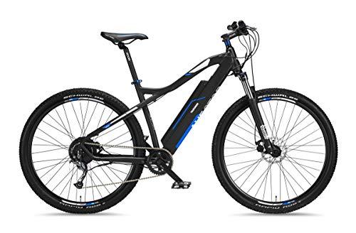 Telefunken - Bicicleta eléctrica de montaña de aluminio, 9 marchas, cambio Shimano...