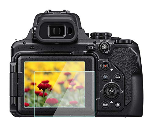 Komet Protector de pantalla de cristal compatible con Nikon COOLPIX P1000, película de vidrio templado antiburbujas, antiarañazos, antidedos, para cámara digital Nikon COOLPIX p1000 (2 unidades)