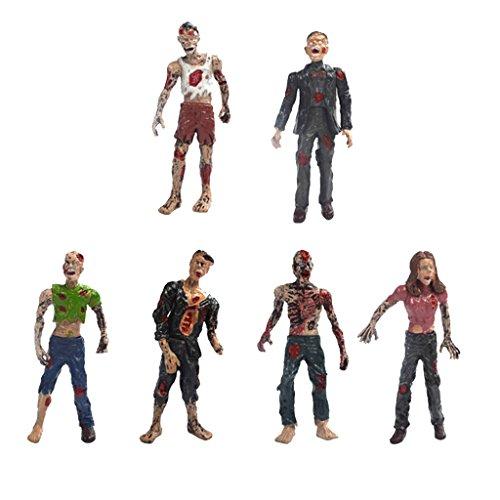 10er-Set Walking Leichen Zombie Action Figuren ca. 10 cm für Filmfiguren Sammlung