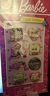 Barbie Liquid Sticker on a card x 3 pack (assorted designs randomly pick)