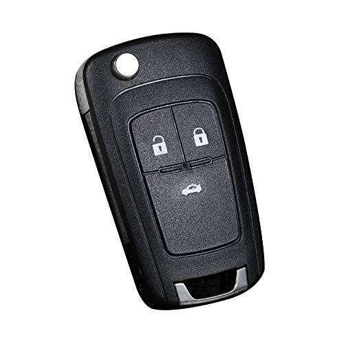 Collectso& Klapp-Schlüsselgehäuse für Chevrolet Fernbedienung, 2 / 3 Tasten, siehe abbildung, 3 Buttons