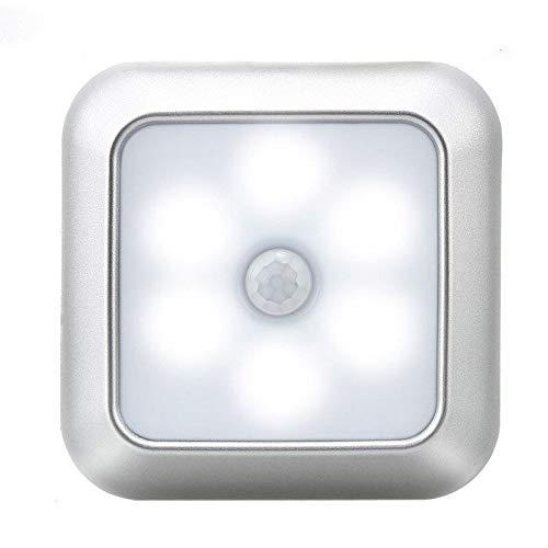 HVTKL Led-nachtlampje met sensor voor ledverlichting, wandlamp met bewegingsmelder, werkt op batterijen, stick-on