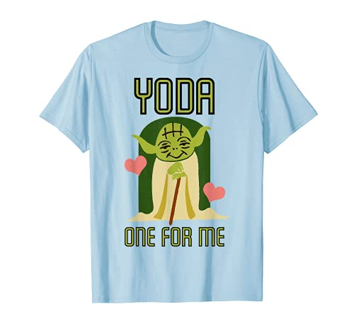 Star Wars Yoda One For Me Cute Valentine's Graphic...