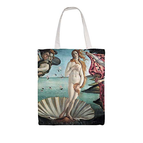 Katoenen canvas Tote Bag, The Birth of Venus, Sandro Botticelli Shoulder Grocery Shopping Bags Cloth Shopping Bag