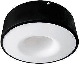 Plafon Led Sobrepor Redondo Sushi 40w Luz Branca 6500k Taschibra Preto Fosco