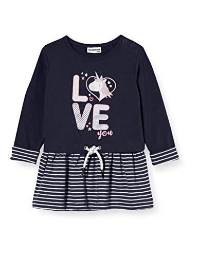 Salt & Pepper Baby-Mädchen 05213214 Kinderkleid, Navy, 68