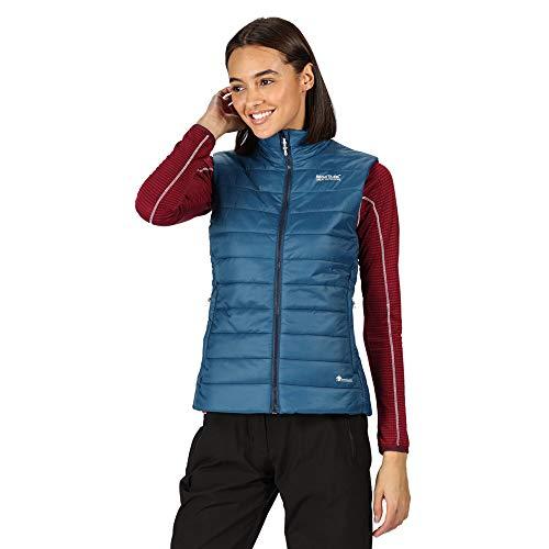 Regatta Womens Freezeway B/W II Weste ohne Ärmel, gepolstert, für Damen, leicht und isolierend, mit Reißverschlusstaschen, Bodywarmers, Blue Opal, FR: XXS (Größe Hersteller: 8)
