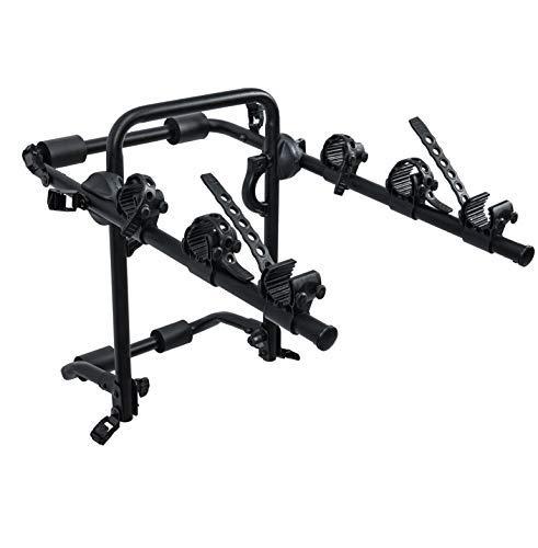 Dependable Direct Sport 3-Bike Trunk Mounted Bicycle Carrier Rack - Quick Release Design - Fits Most Sedans, Hatchbacks, Minivans and SUVs - Upgraded Model