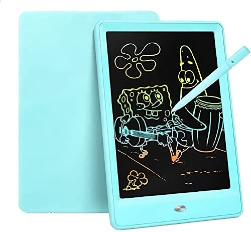 Bravokids Toys for 3-6 Years Old Girls Boys, LCD Writing Tablet 10 Inch Doodle Board, Electronic Drawing Tablet Drawing Pads, Educational Birthday Gift for 3 4 5 6 7 8 Years Old Kids Toddler (Blue)