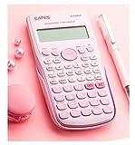 ZSEA Tipo de Bolsillo de Bolsillo Función de calculadora científica calculadora multifunción de computadora Estudiante de Oficina Estudio en el hogar Negro Azul Rosa Blanco anticolisión 12 dígitos
