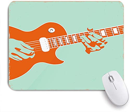 PATINISA Mouse Pad Mouse Mat,Guitar Musician Performing Print,Gaming Mouse Pad Custom for Laptop,Computer and PC Home Office Working