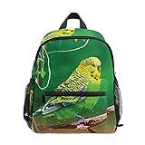 Bolsa de escuela pequeña verde Budgie Loro oferta mochila para niña niño niños mini viaje mochila primaria preescolar estudiante bolsa