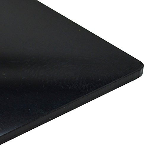 Acryl-kunststof plaat, 3 mm, plexiglas, glanzend, zwart, 16 maten naar keuze (297 mm x 210 mm / A4)