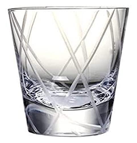 NUOCHEN Gafas de Whisky Gift Bar Bar Club Fiesta con Vidrio de Cristal de Cristal Pesado Vidrio de Whisky soplado a Mano