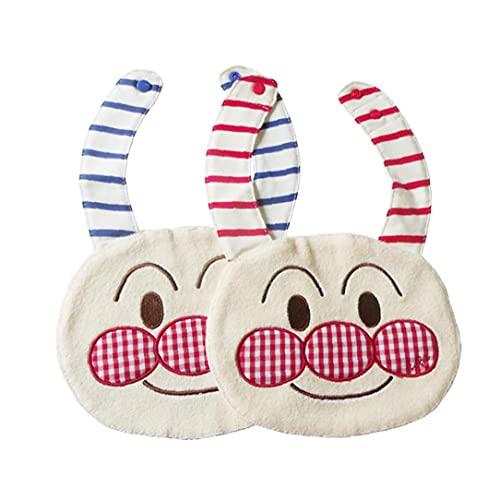 1pc de la historieta toalla de la saliva del babero baberos infantiles del algodón suave y cómodo con el botón de toallas para Bebés y Niños