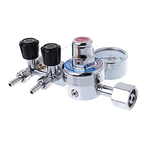 HEQIE-YONGP Regulador de Aire, AR / CO2 Regulador, Soldadura autógena Dual de Purga de Retorno 25 MPa Mig Flow Medidor de Gas argón Reductor de presión