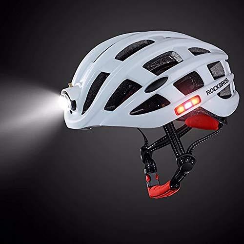Fietshelm met USB Achterlicht Anti, Fietshelm voor Mannen Vrouwen Road Fietsen & Mountainbiken, Koplamp verlichting, Side Lights