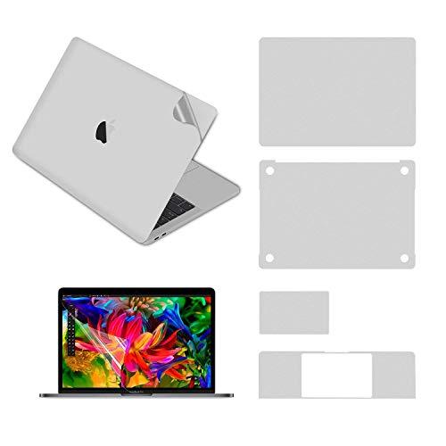Pwkutn 5-in-1 Schutzfolie für MacBook Pro 13 Zoll mit Touch Bar (A2289 und A2338 2020) Silber