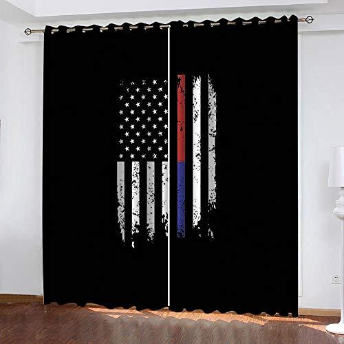 MXYHDZ Cortinas Opacas de Salon - Estampado de Bandera Negra Impresión 3D, Dormitorio Aislantes Termicas con Ollaos - 150 x 166 cm para Oficina y salón, Dormitorio habitación de los niños, 2 Piezas