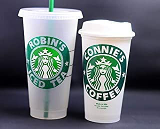 Authentic Personalized Reusable Starbucks Cup 16 oz Hot Cup OR 24 oz Venti Frosted Cold Cup - Ships Free