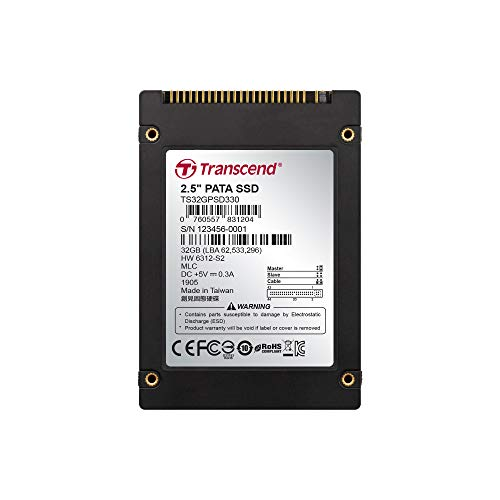 Transcend TS32GPSD330 interne SSD 32GB (6,4 cm (2,5 Zoll), MLC) schwarz