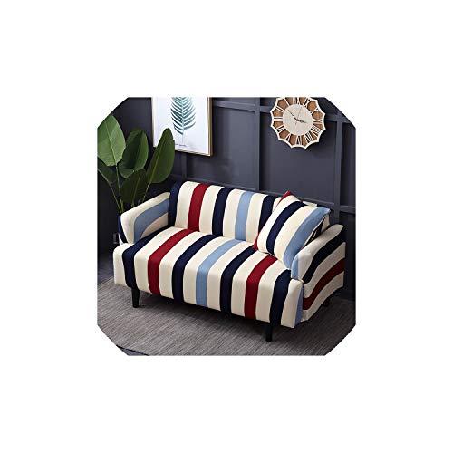 Black-Sky algodón Cubierta de sofá Fundas elásticas Cubierta de sofá de Dos plazas Gran Elasticidad Esquina sofá seccional Fundas para sofá de la Sala Funda, Color 9,4 plazas 235-300cm