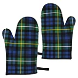 ZVEZVI Campbell Ancient Tartan Traditional Abstract Home Extreme Heat Resistant 2Pcs Microonde Pot Holder Guanti da Forno per Cucina BBQ Cottura 11x5,9 Pollici