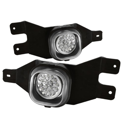 Fits Ford 1999-2004 F250/F350 Super Duty 00-04 Excusion Front Bumper LED Fog Lights Pair w/Switch Relay Harness