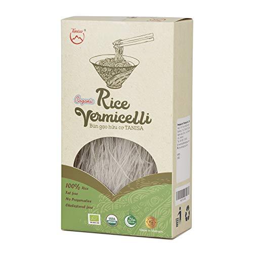 Tanisa ORGANIC Rice Vermicelli Noodles USDA Certified - gluten free (7 Oz/pack) (Vietnamese Bun) (ORGANIC White, 1 pack)