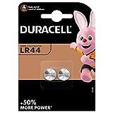 Duracell - Pilas especiales alcalinas de botón LR44 de 1.5 V, paquete de 2 unidades (76A/A76/V13GA) diseñadas para su uso en juguetes, calculadoras y dispositivos de medición